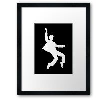 White Elvis Framed Print
