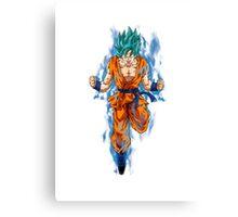 Goku Super Saiyan god Canvas Print
