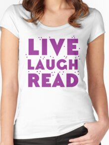 LIVE LAUGH READ in purple Women's Fitted Scoop T-Shirt
