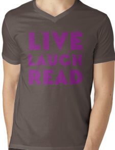 LIVE LAUGH READ in purple Mens V-Neck T-Shirt