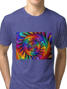 Psychedelic Rainbow Spiral  Tri-blend T-Shirt