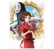 Haku, Chihiro and No Face Poster