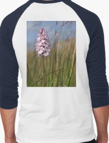Spotted Orchid,  Portnoo, Co. Donegal Men's Baseball ¾ T-Shirt