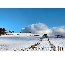 Rolling clouds in the peak district Photographic Print