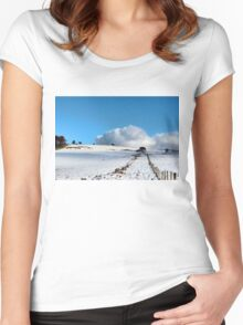 Rolling clouds in the peak district Women's Fitted Scoop T-Shirt