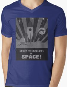 Space adventures, In Space!  Mens V-Neck T-Shirt