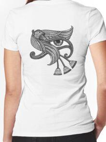 Eye of Horus (Tattoo Style Print) Women's Fitted V-Neck T-Shirt