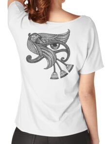 Eye of Horus (Tattoo Style Print) Women's Relaxed Fit T-Shirt