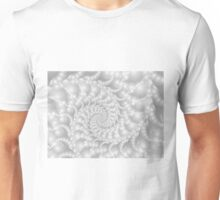 Mother of Pearl Beaded Spiral Fractal Unisex T-Shirt