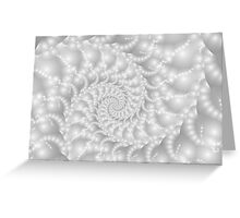 Mother of Pearl Beaded Spiral Fractal Greeting Card