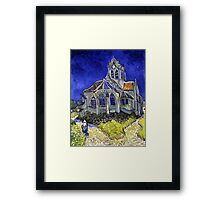 Vincent Van Gogh The Church in Auvers Framed Print