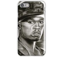 50 cent in black and white iPhone Case/Skin