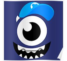 Monster Mike Wazowski Smile Poster