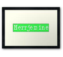 Herrjemine 4 Framed Print