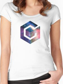 Galaxy GameCube Logo Women's Fitted Scoop T-Shirt