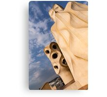 Whimsical Chimneys - Antoni Gaudi's Casa Mila in Barcelona, Spain Canvas Print