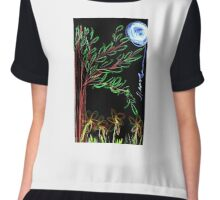 Nature under the Moon  Chiffon Top
