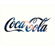Coca Cola Logo Galaxy Art Print