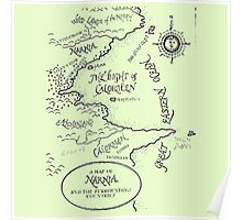 Go To Narnia Map Poster