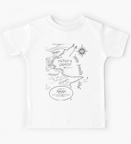Go To Narnia Map Kids Tee