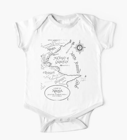 Go To Narnia Map One Piece - Short Sleeve
