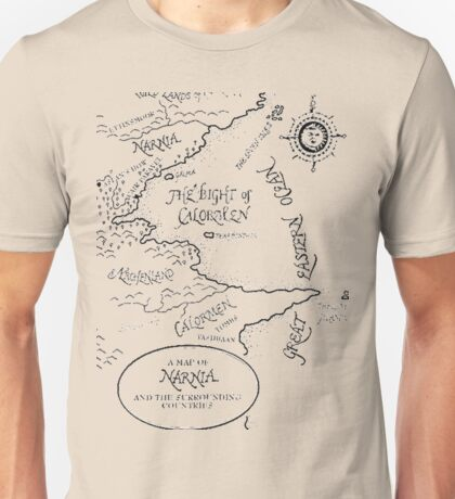 Go To Narnia Map Unisex T-Shirt