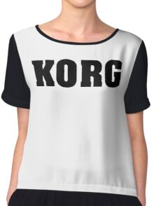 Black Korg Chiffon Top