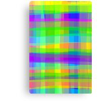 Psychedelic Fabric Texture Pattern Canvas Print