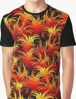 Fire Feather Pattern Texture Graphic T-Shirt