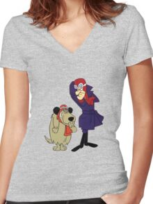 Dastardly & Muttley Women's Fitted V-Neck T-Shirt