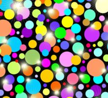 Polka Dots Psychedelic Colors Sticker