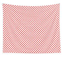 Polka Dot Red and White Pattern Wall Tapestry