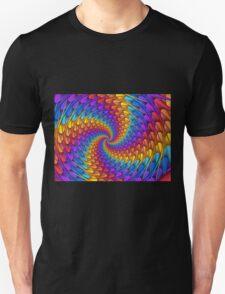 Psychedelic Spiral Fractal  T-Shirt