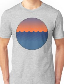 Waves Sunset Unisex T-Shirt