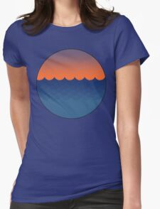 Waves Sunset Womens Fitted T-Shirt