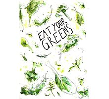 Eat your greens! Iss grün! Photographic Print