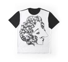 Star-Studded Kiss-Curl Graphic T-Shirt