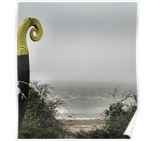Viking ship sailing into the mist Poster