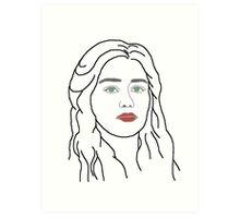 Emilia Clarke - sketch  Art Print