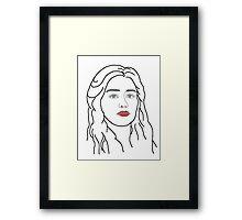 Emilia Clarke - sketch  Framed Print