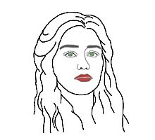 Emilia Clarke - sketch  Photographic Print