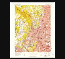 USGS TOPO Map New Jersey NJ Paterson 254692 1955 24000 Unisex T-Shirt