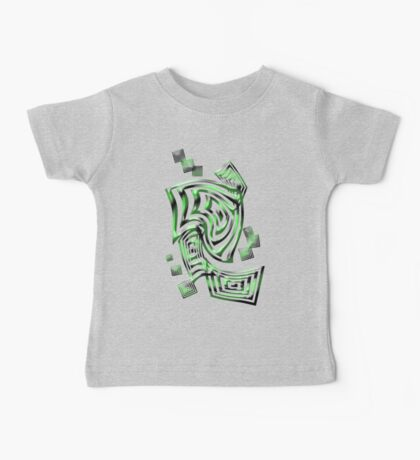 Green squares Baby Tee