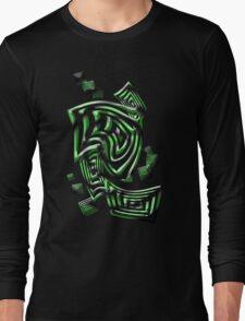 Green squares Long Sleeve T-Shirt