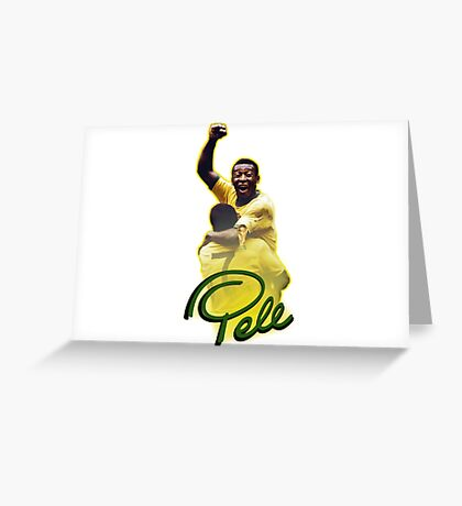 Pele World Cup Brazil Greeting Card
