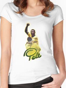 Pele World Cup Brazil Women's Fitted Scoop T-Shirt