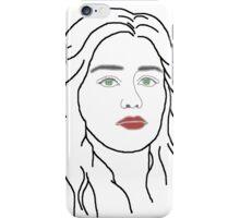 Emilia Clarke - sketch  iPhone Case/Skin