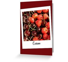 "Polaroid ""cherries"" Greeting Card"