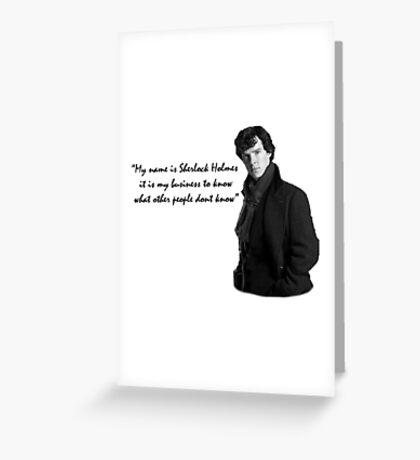 SherlockHolmes 0002 Greeting Card