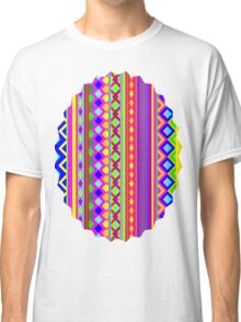 Aztec Psychedelic Chevron Pattern Classic T-Shirt
